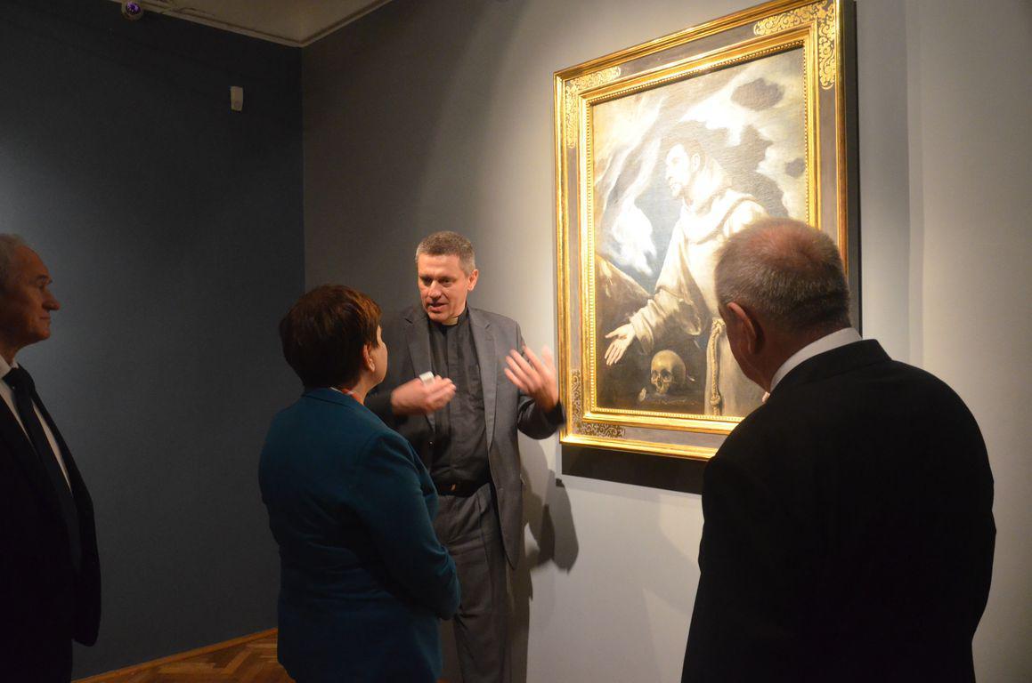 Premier Beata Szydlo Muzeum Siedlce El Greco 1