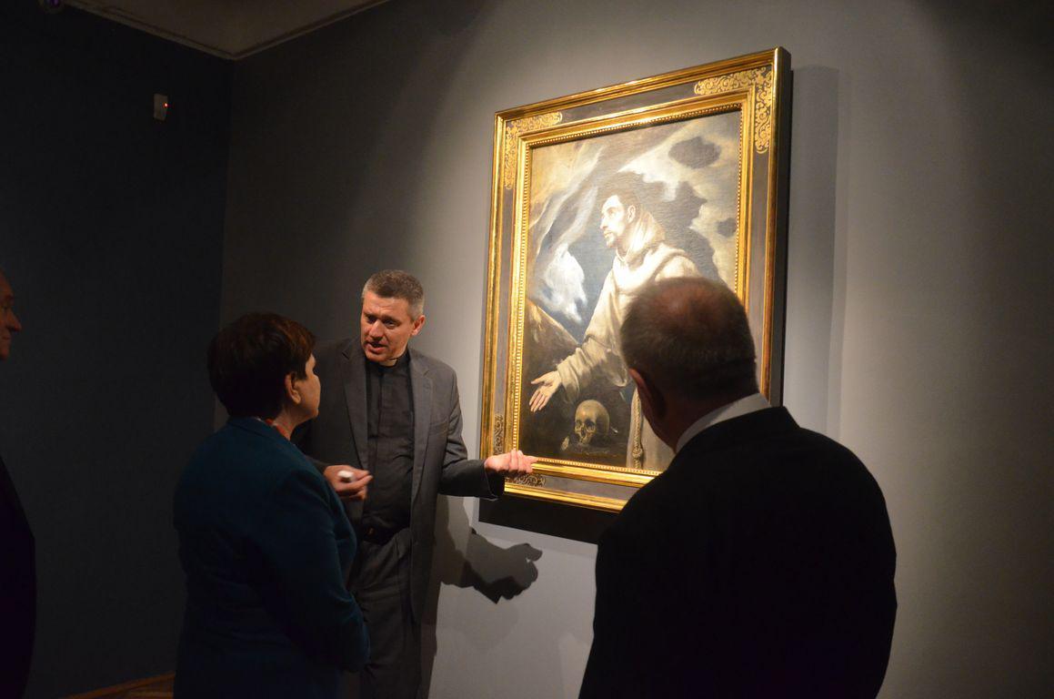 Premier Beata Szydlo Muzeum Siedlce El Greco 3